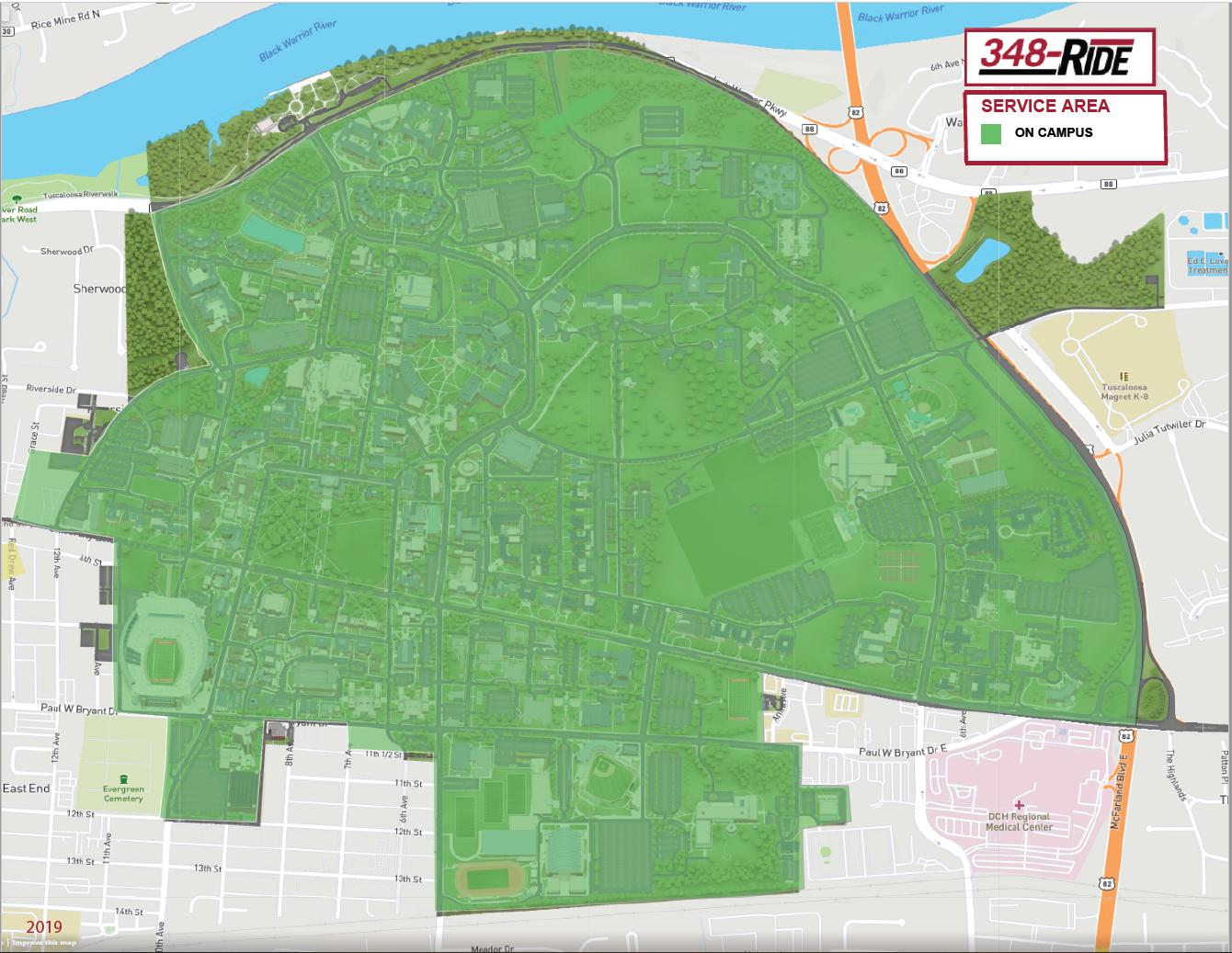348 Ride Service Area 2019